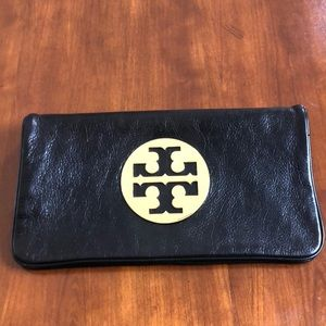 Tory Burch Black Clutch with detachable strap